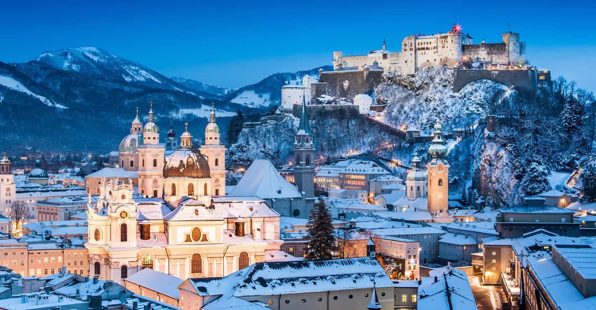 The best places to spend a white Christmas around the world