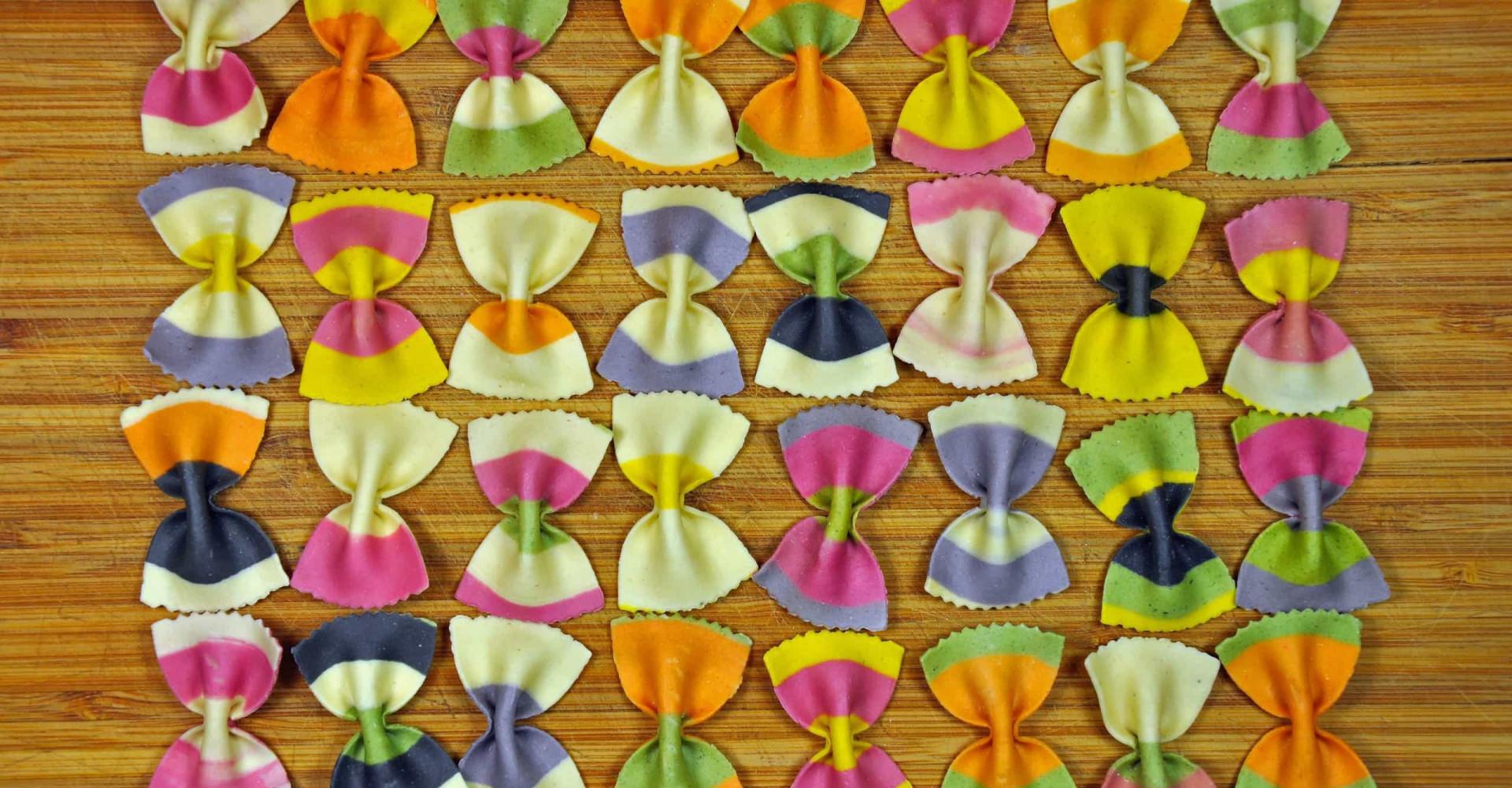 Des pâtes hautes en couleur