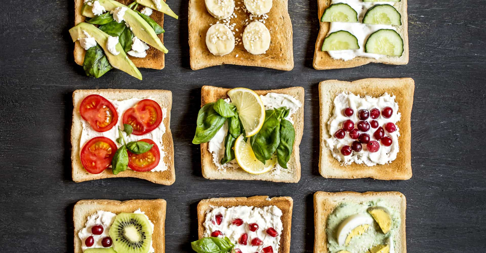 60 delicious toppings for National Toast Day!