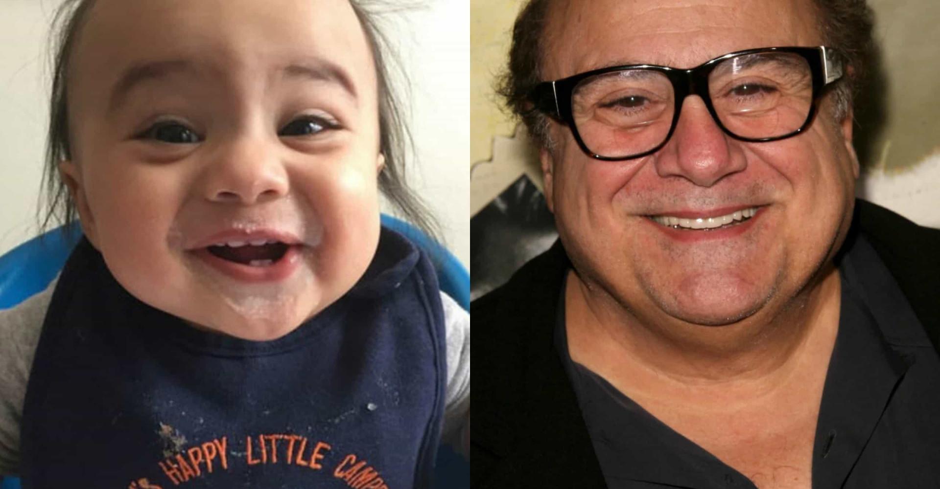Bebisar och småbarn som är kopior av kändisar
