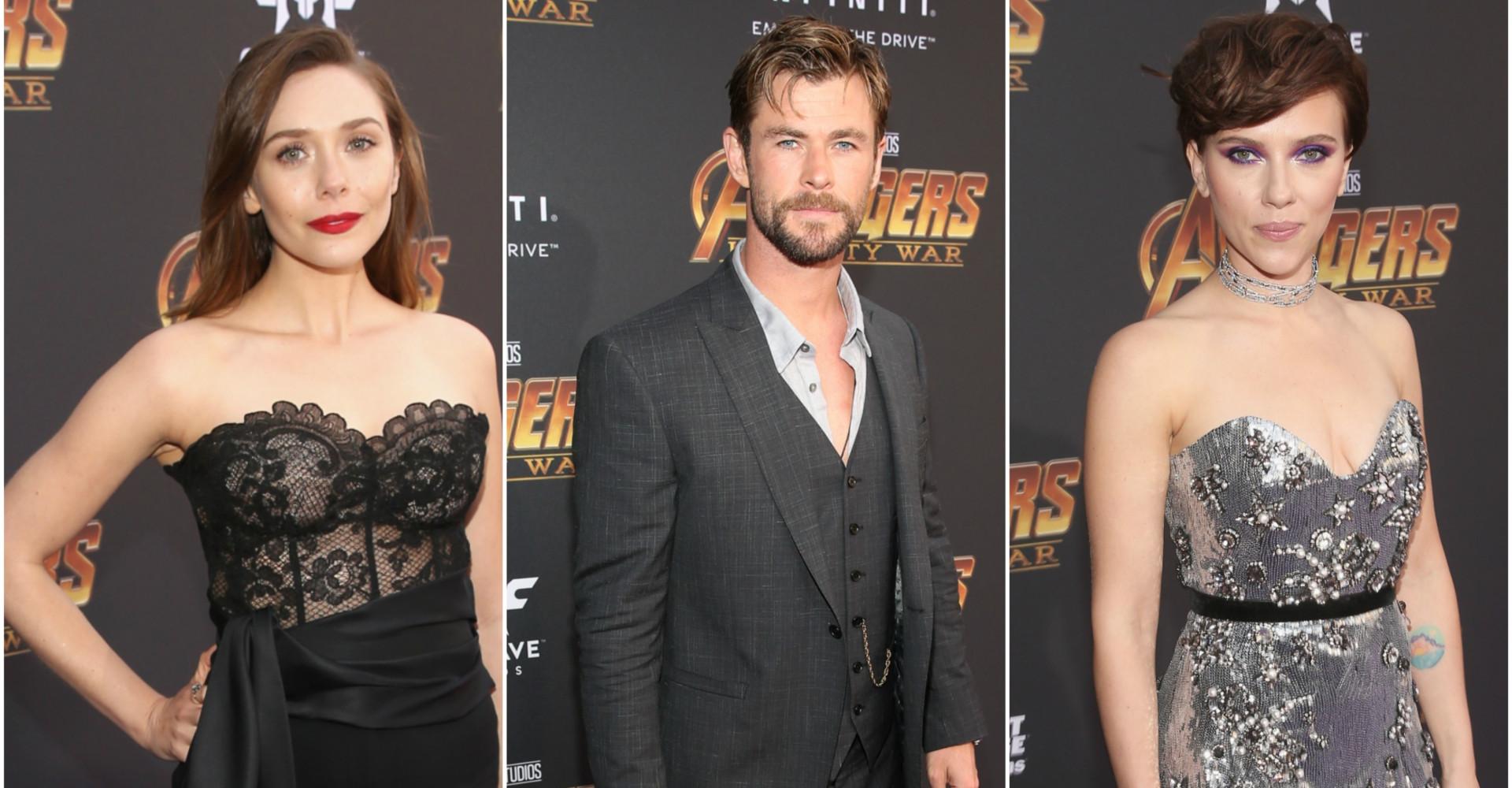 El glamuroso estreno de 'Avengers: Infinity War'