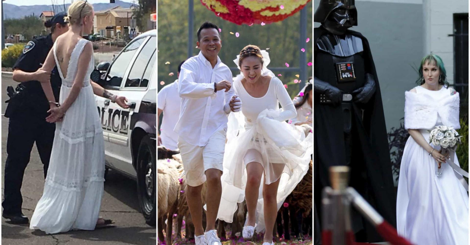Estas son las fotos de boda más raras del mundo