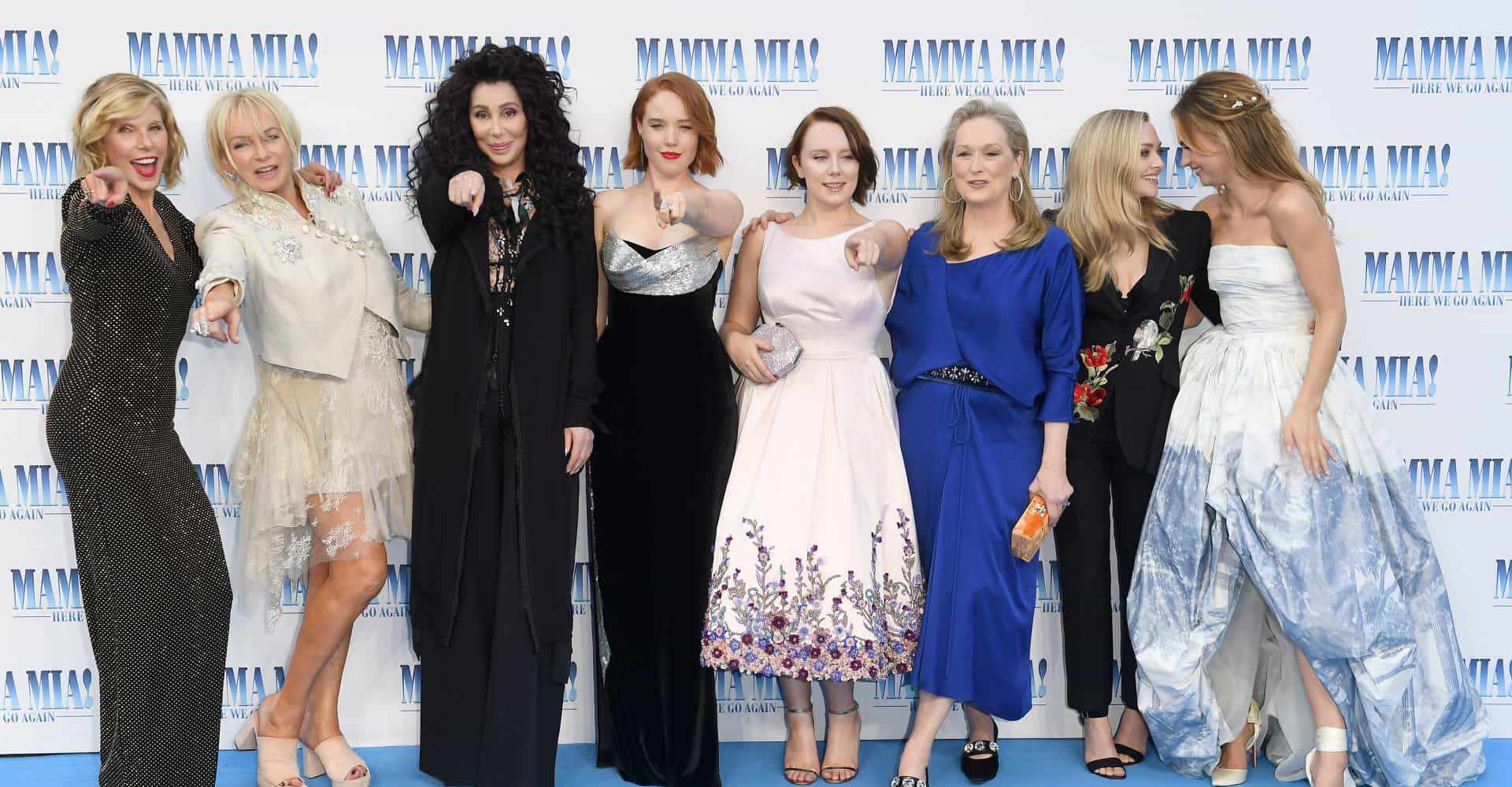 Here we go again! 'Mamma Mia!' cast hits the blue carpet