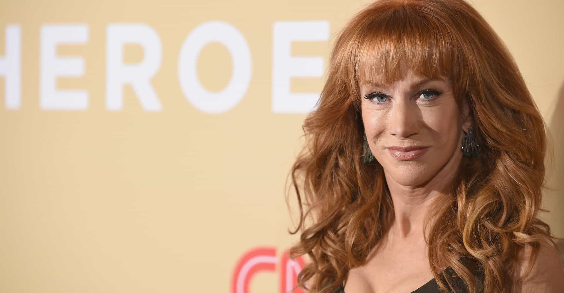 Kathy Griffin is so happy about US politics she dances topless!
