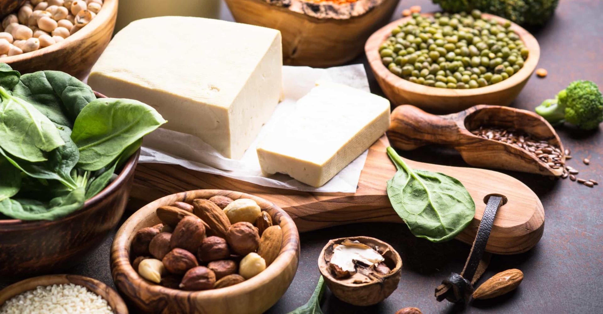 Vegan voedsel bomvol eiwitten