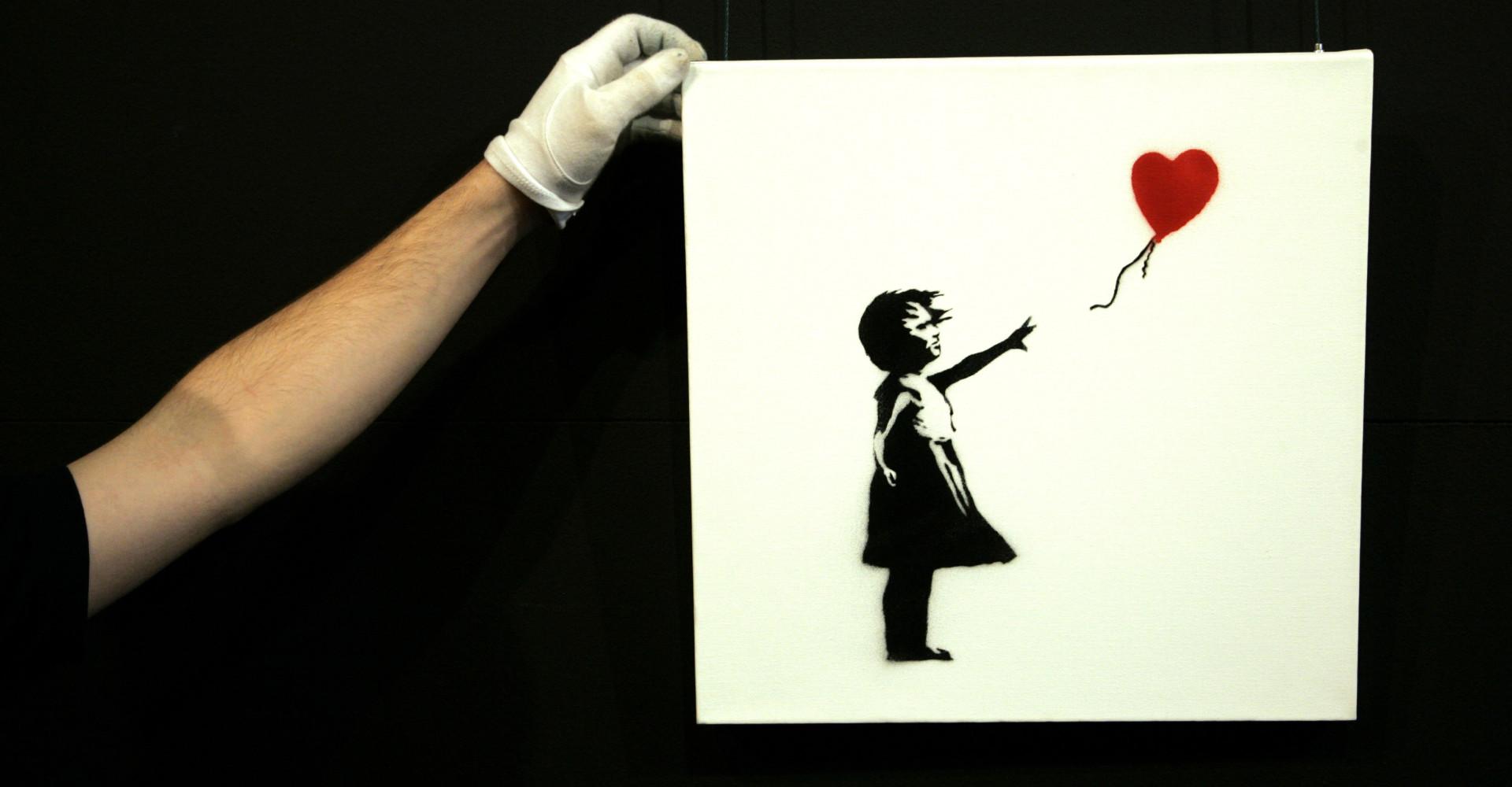 Banksy, son œuvre s'autodétruit lors de sa vente