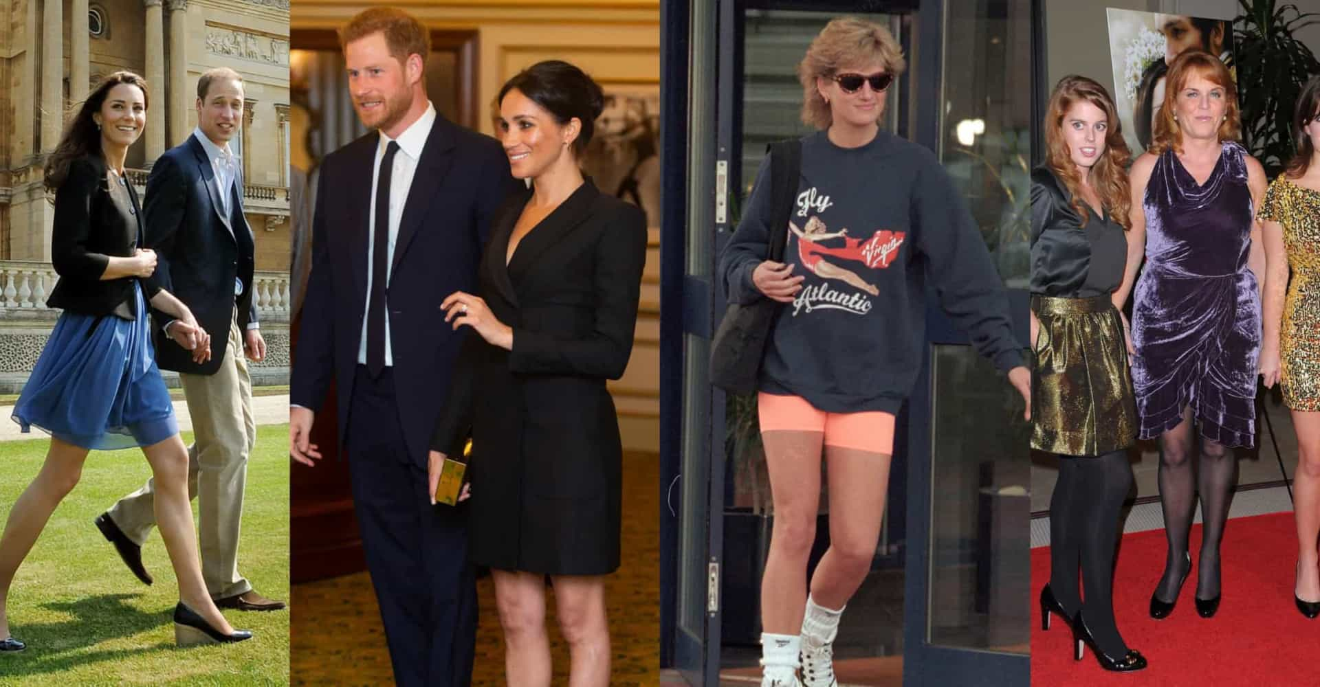 Royals with legs! Meghan Markle isn't the only duchess to wear short skirts