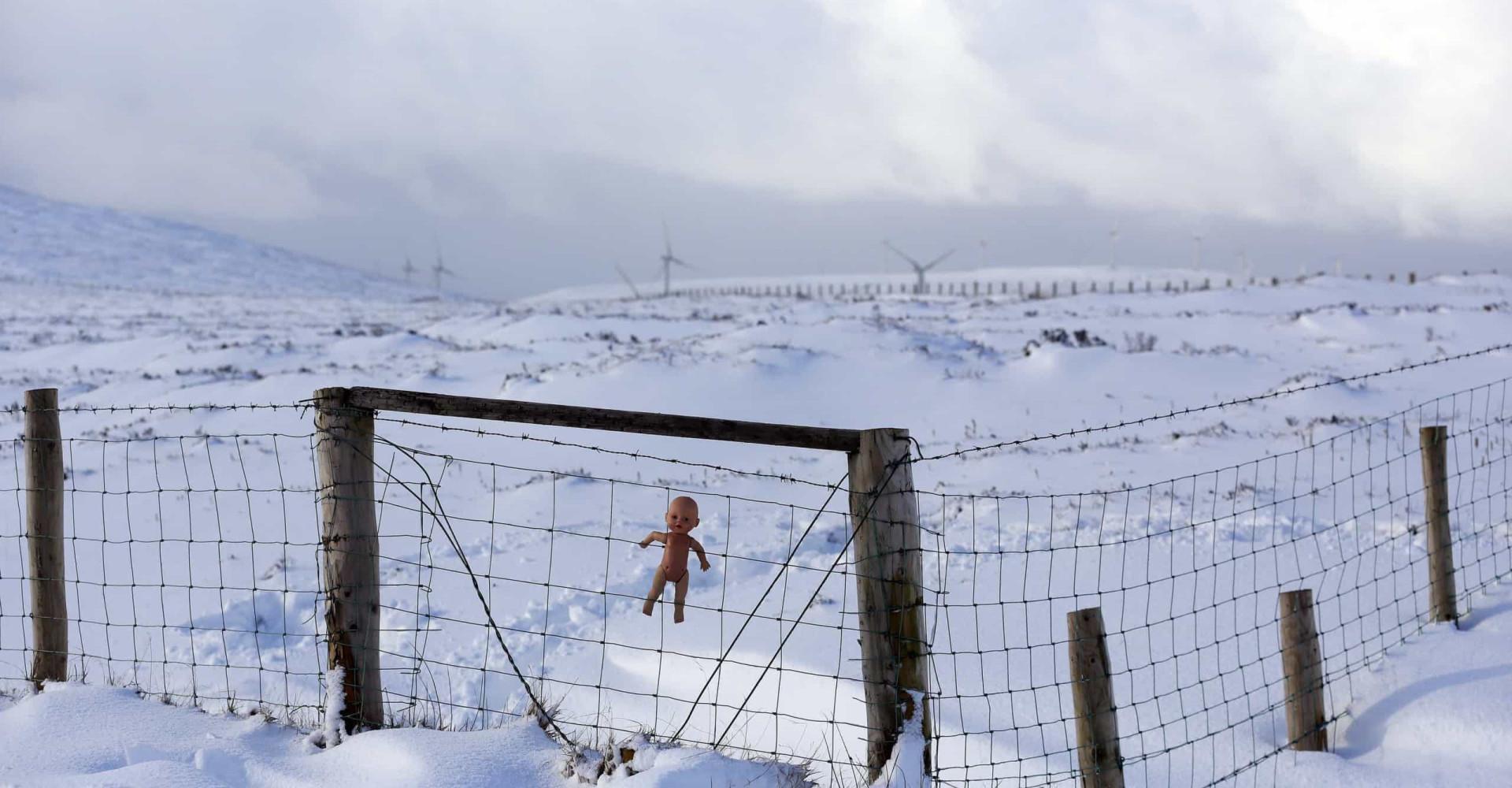 Images hantées de poupées abandonnées