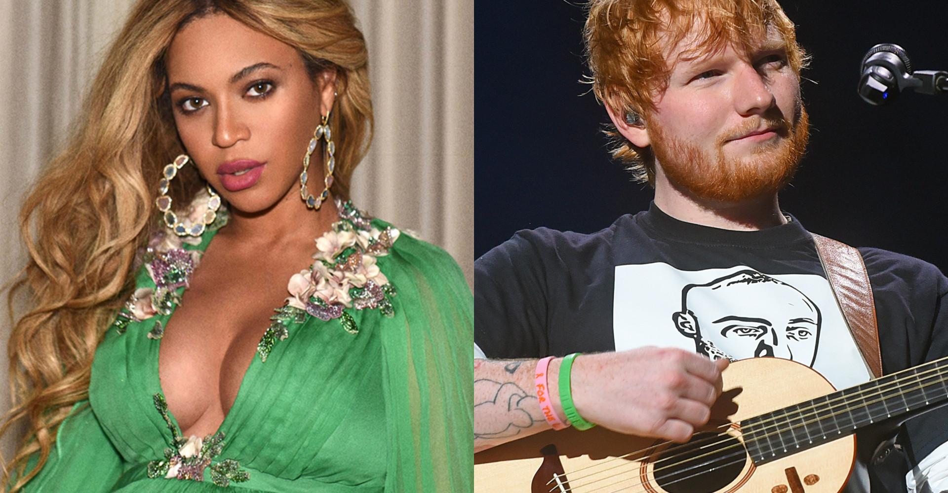 Ed Sheeran e Beyoncé: i look non coordinati e le reazioni esilaranti del pubblico