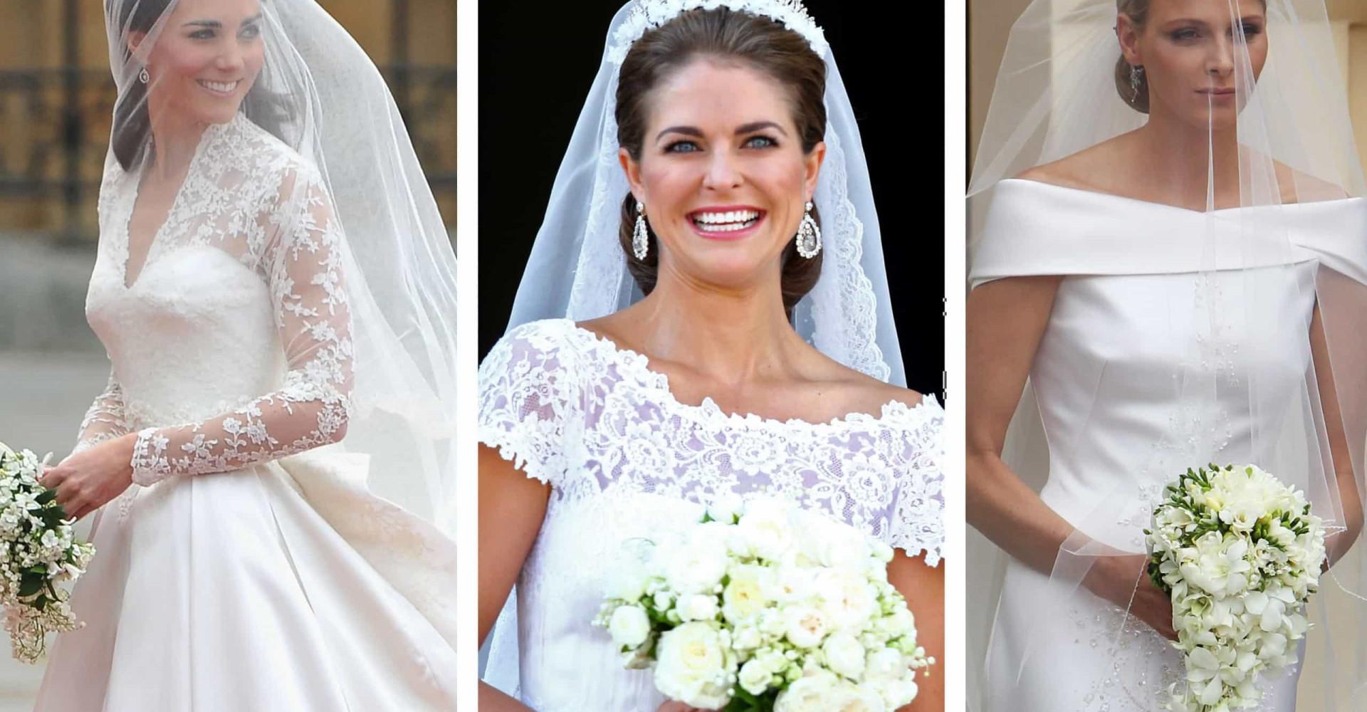 Royals: wie droeg de mooiste trouwjurk?