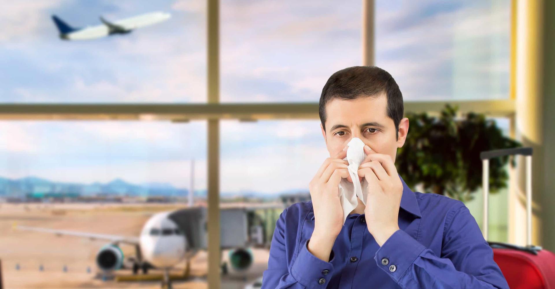 Zo voorkom je een verkoudheid in het vliegtuig