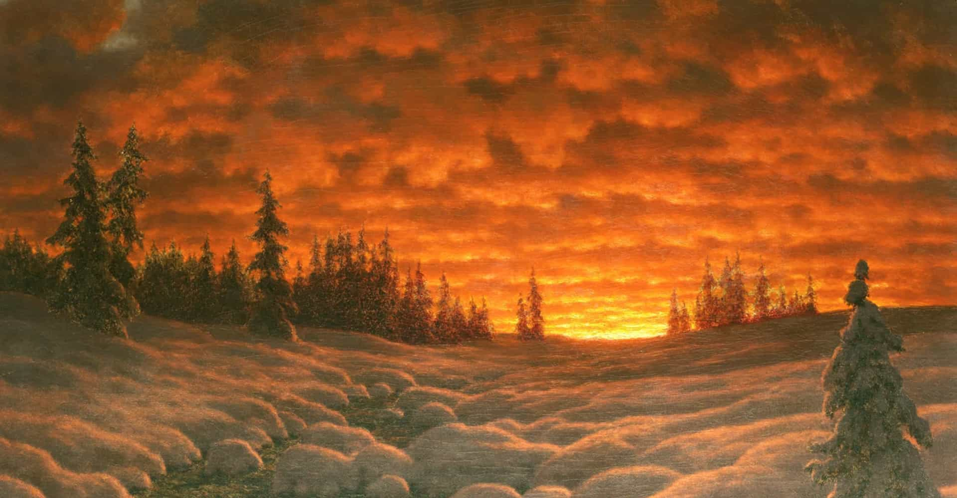 Wonderful paintings that describe winter