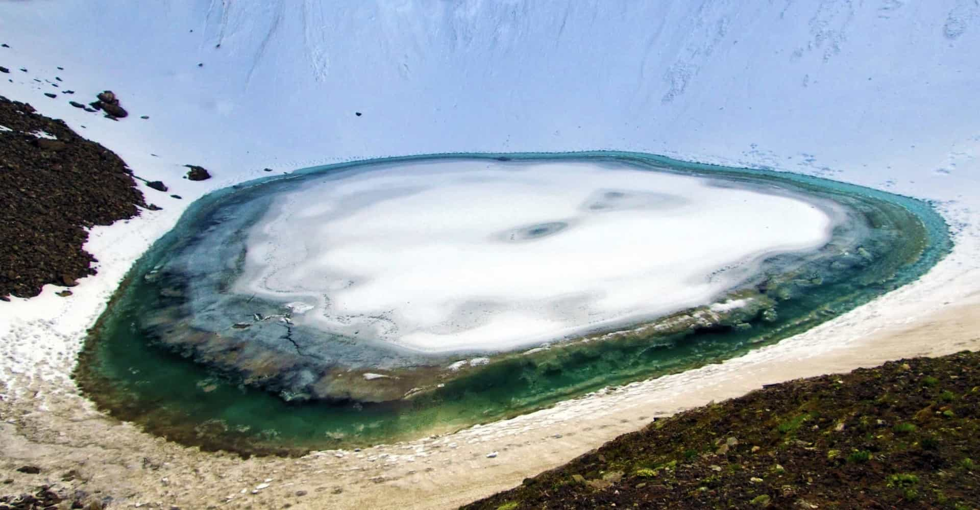 This glacial lake hides a dark secret