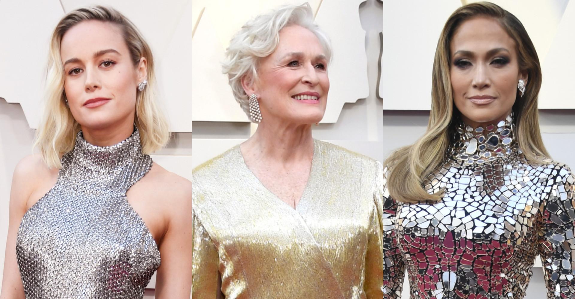 Kendisser iført metallisk ved årets Oscar-uddeling