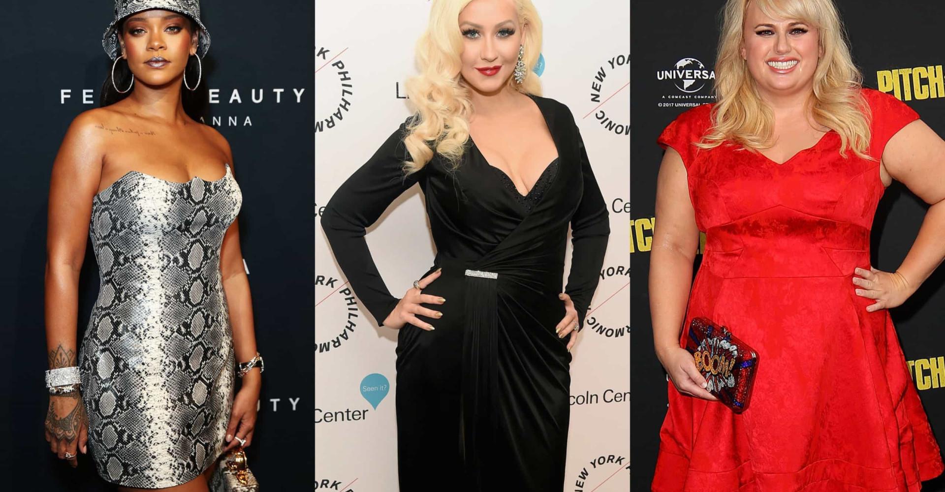 As famosas que se orgulham das suas curvas