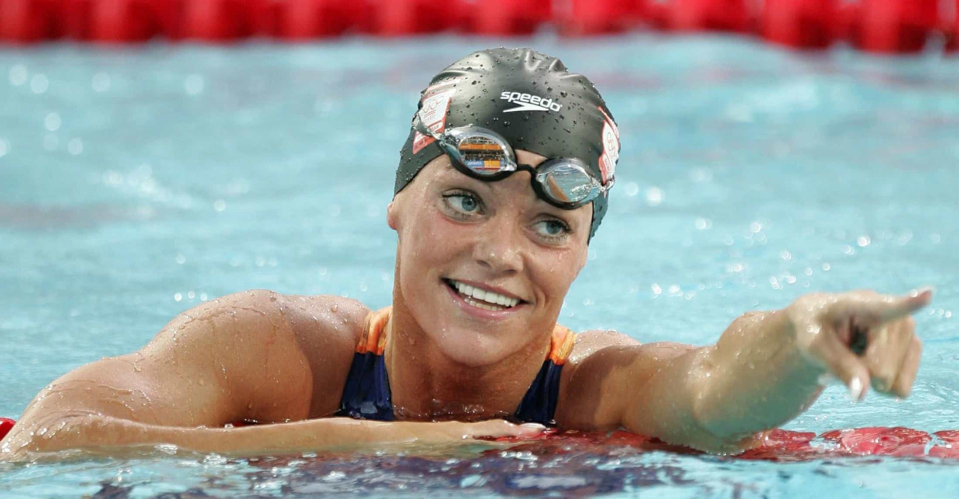 Nederlands zwemkoningin Inge de Bruijn