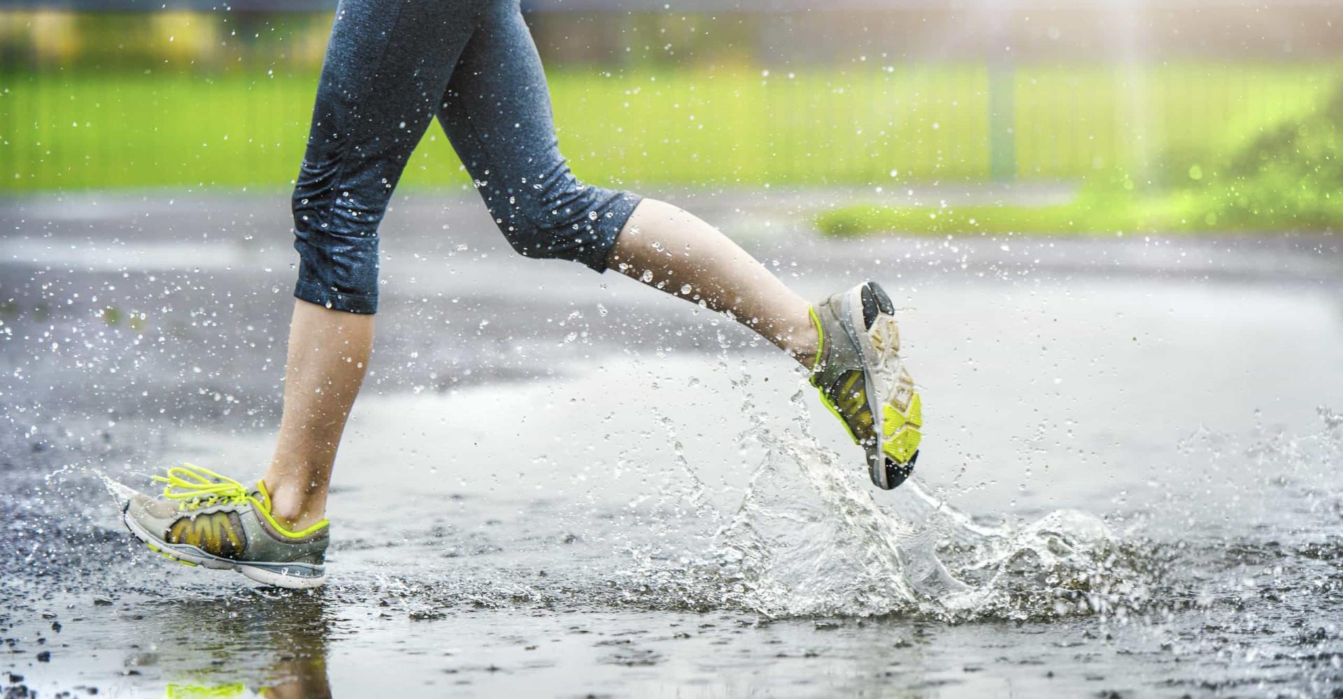 De voordelen van sporten in de regen