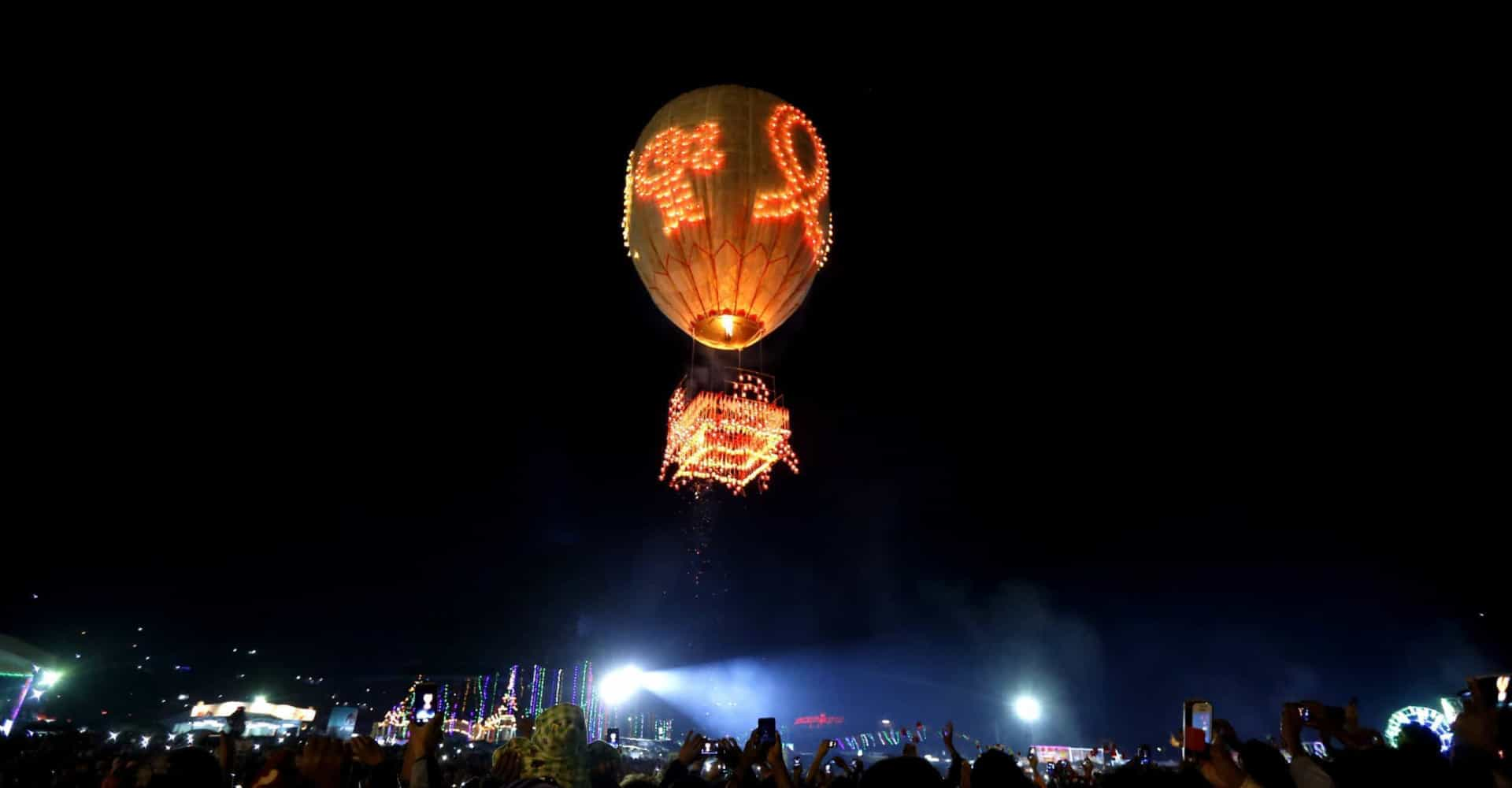 Taunggyi Balloon Festival: a spectacle of light and color