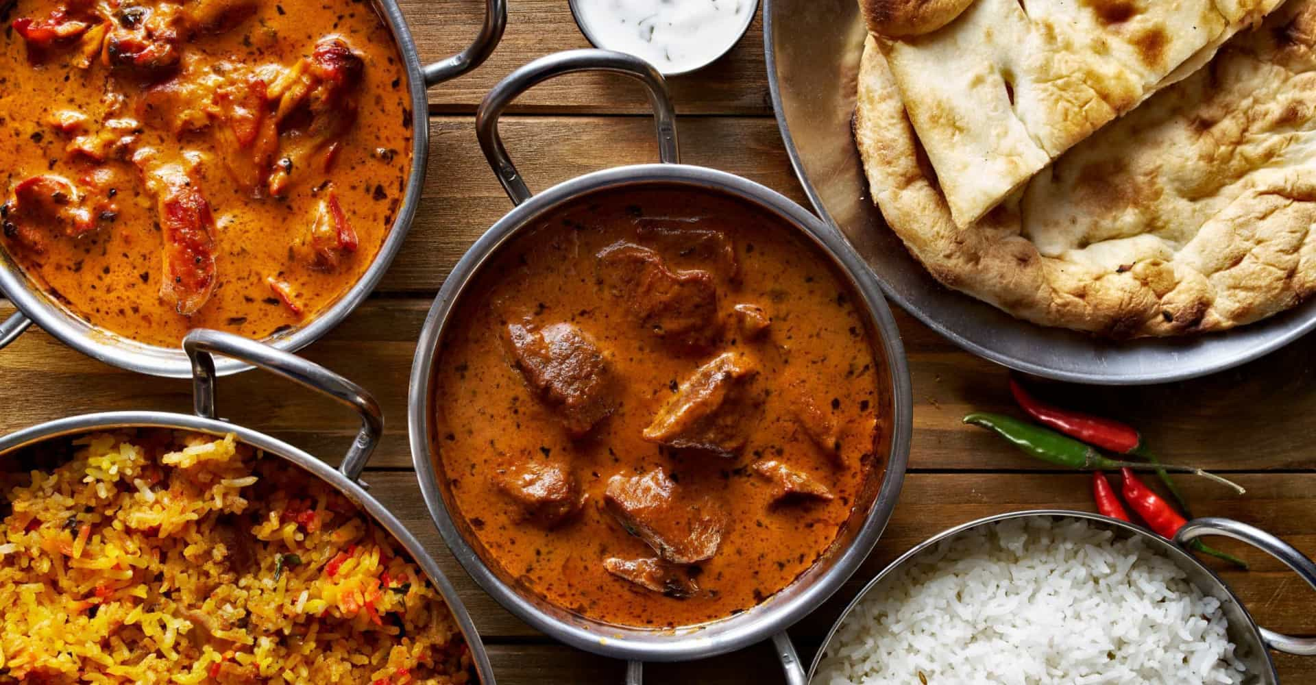 Your favorite curries—in order of heat!