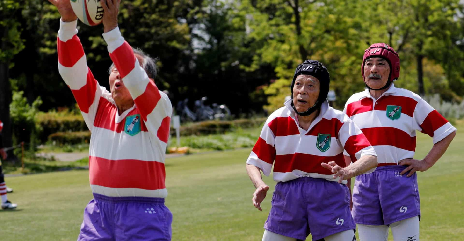 The Japanese seniors choosing rugby over retirement