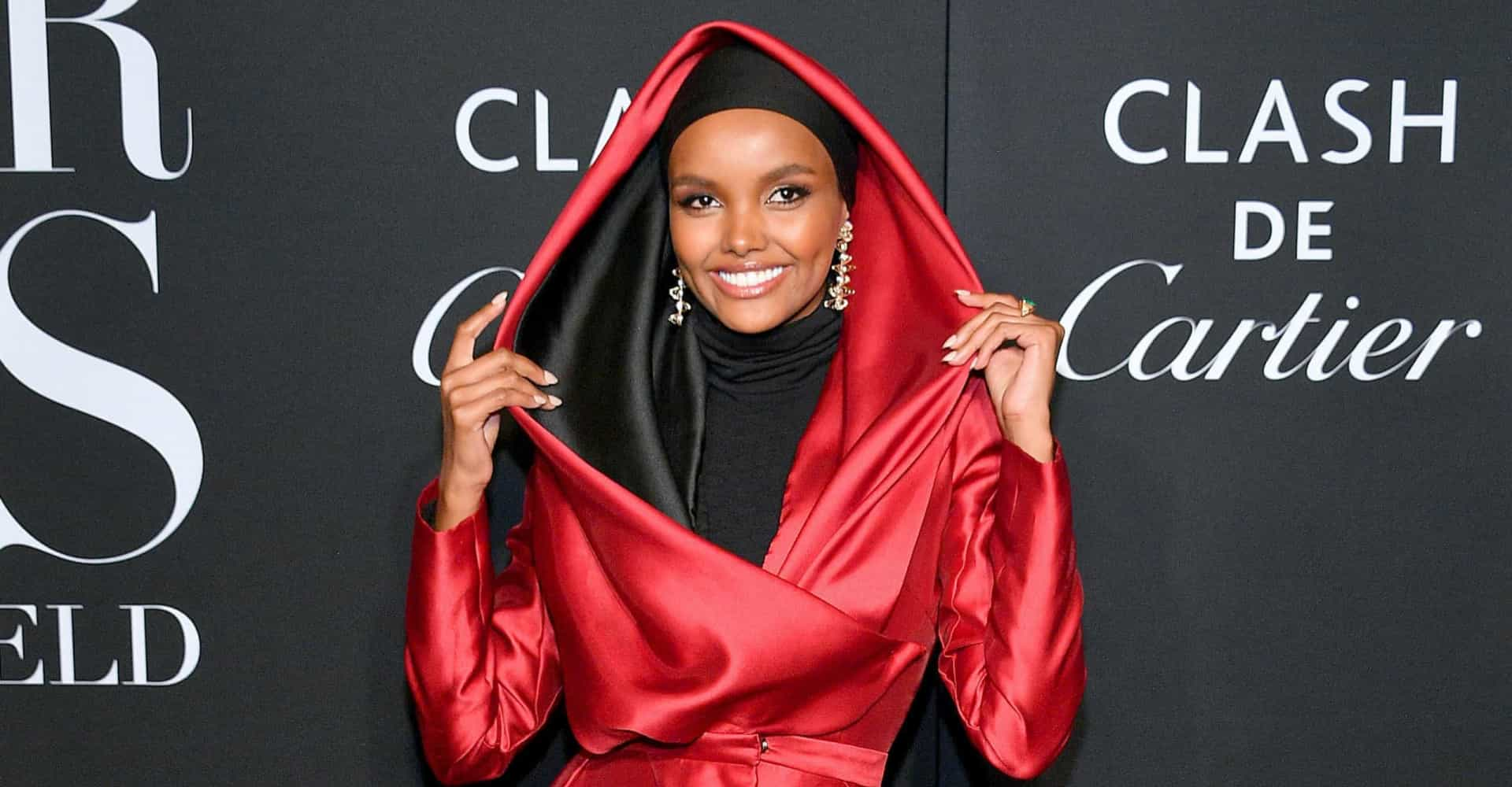 The high-fashion hijab, as shown by top model Halima Aden