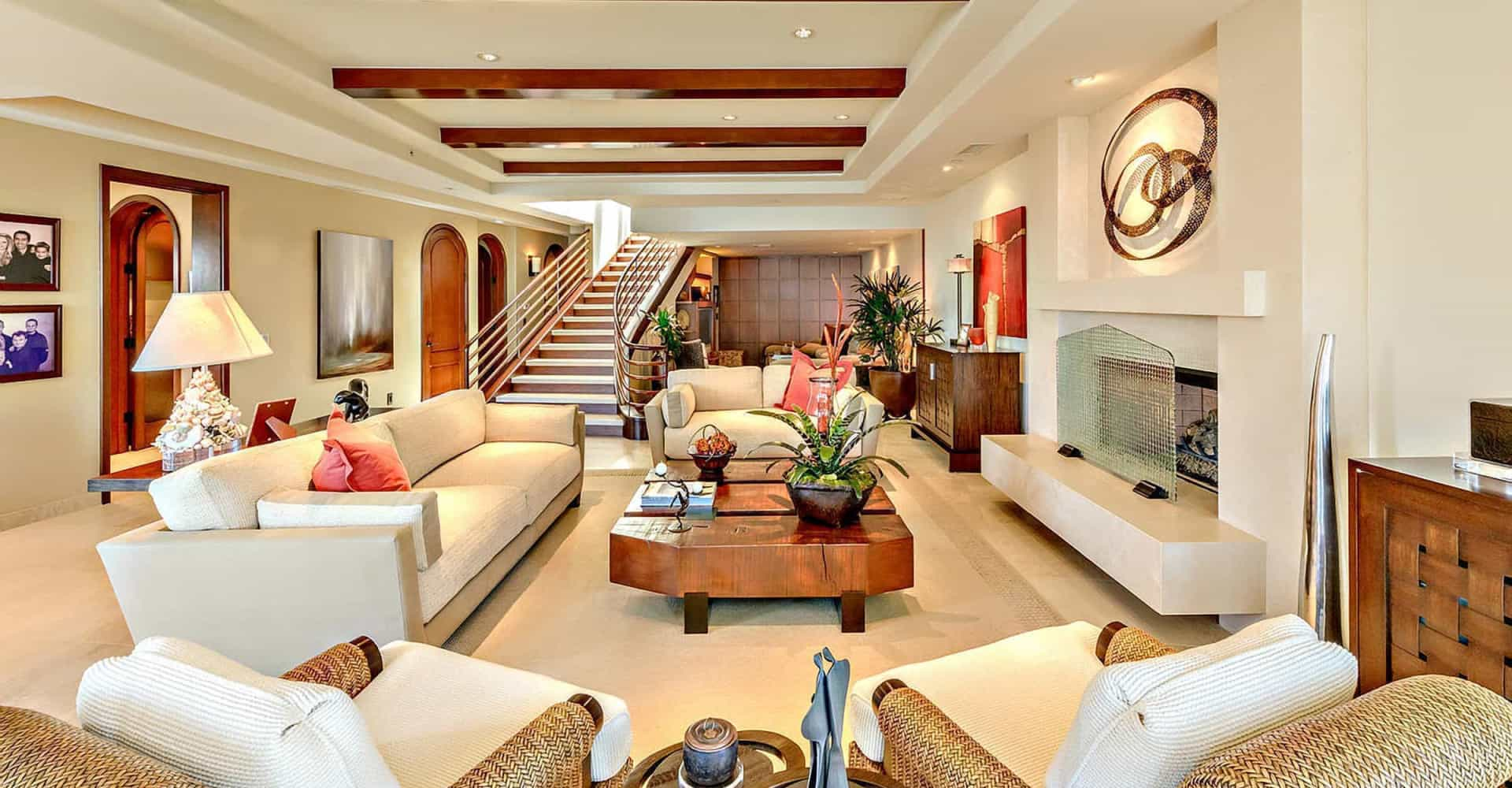 Take a peek inside these celebrity living rooms