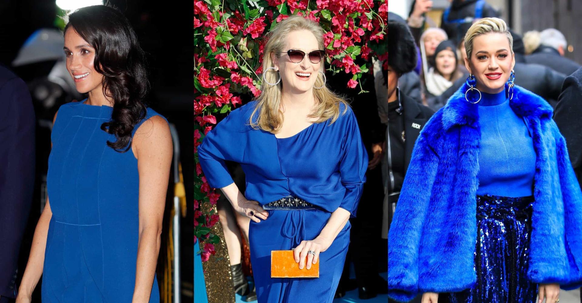 Azul clásico: celebridades que arrasaron con el color del año 2020