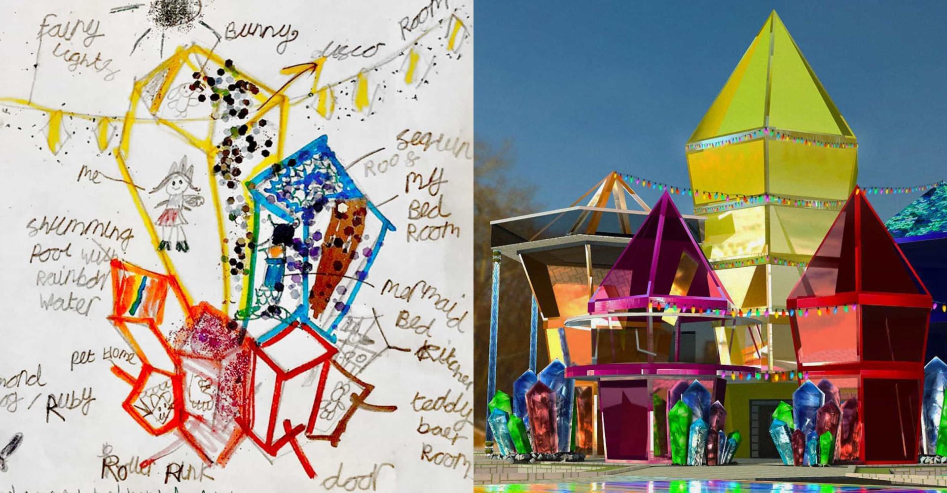 아이들이 디자인한 상상력 가득한 드림 하우스