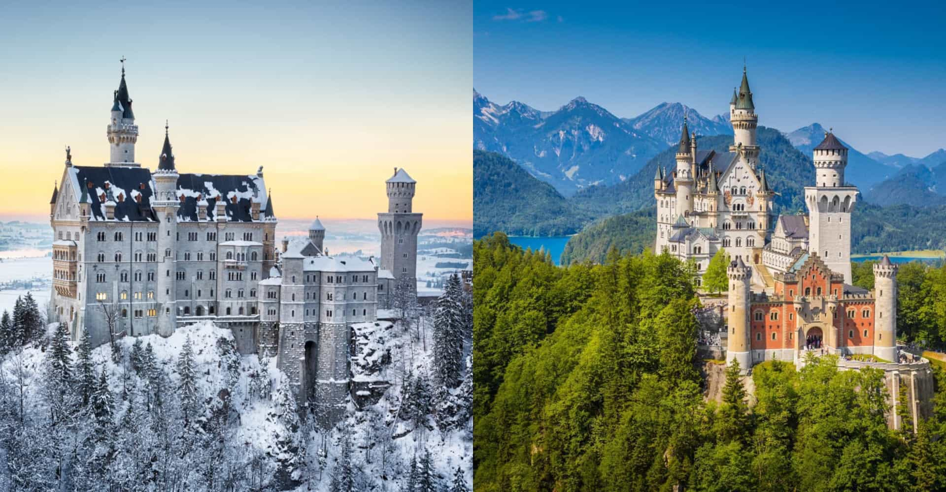 The world's biggest tourist attractions in winter and summer