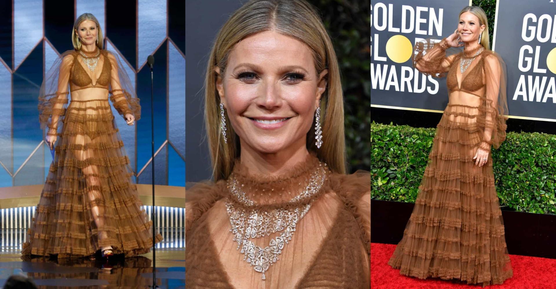 La extravagancia de Gwyneth Paltrow en los globos de Oro 2020