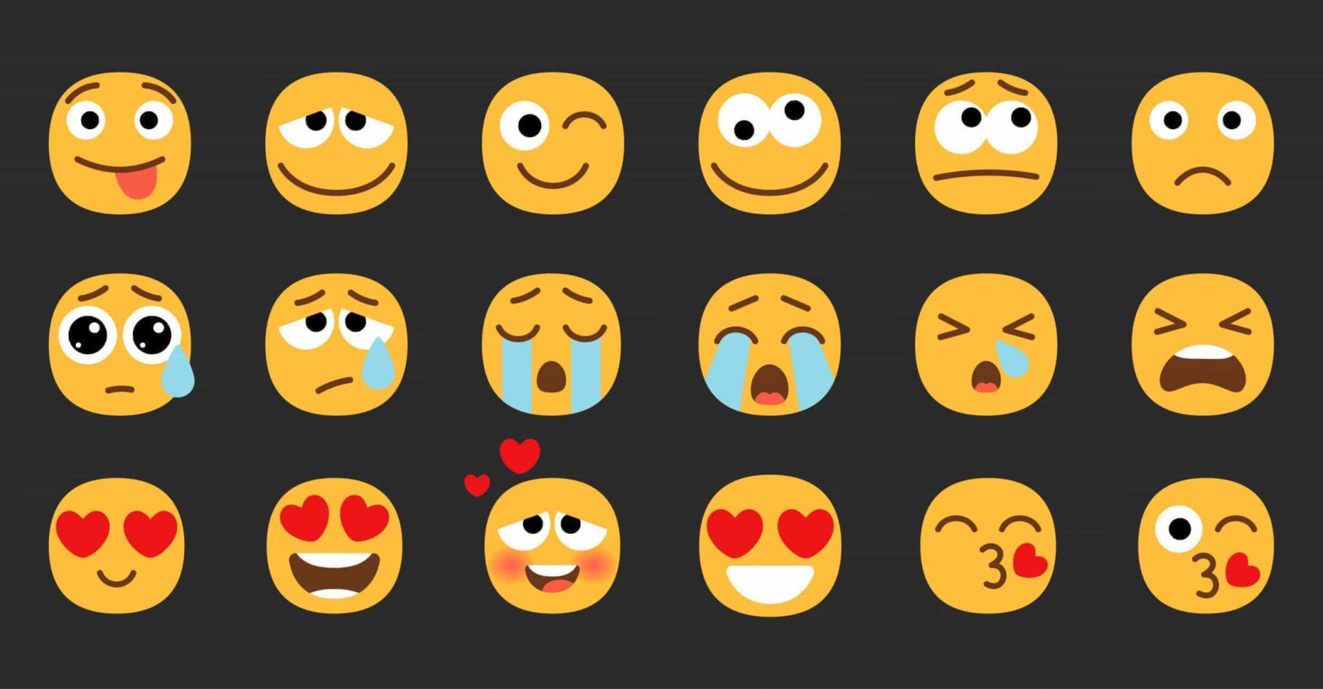 Los 30 emoticonos más utilizados en la actualidad