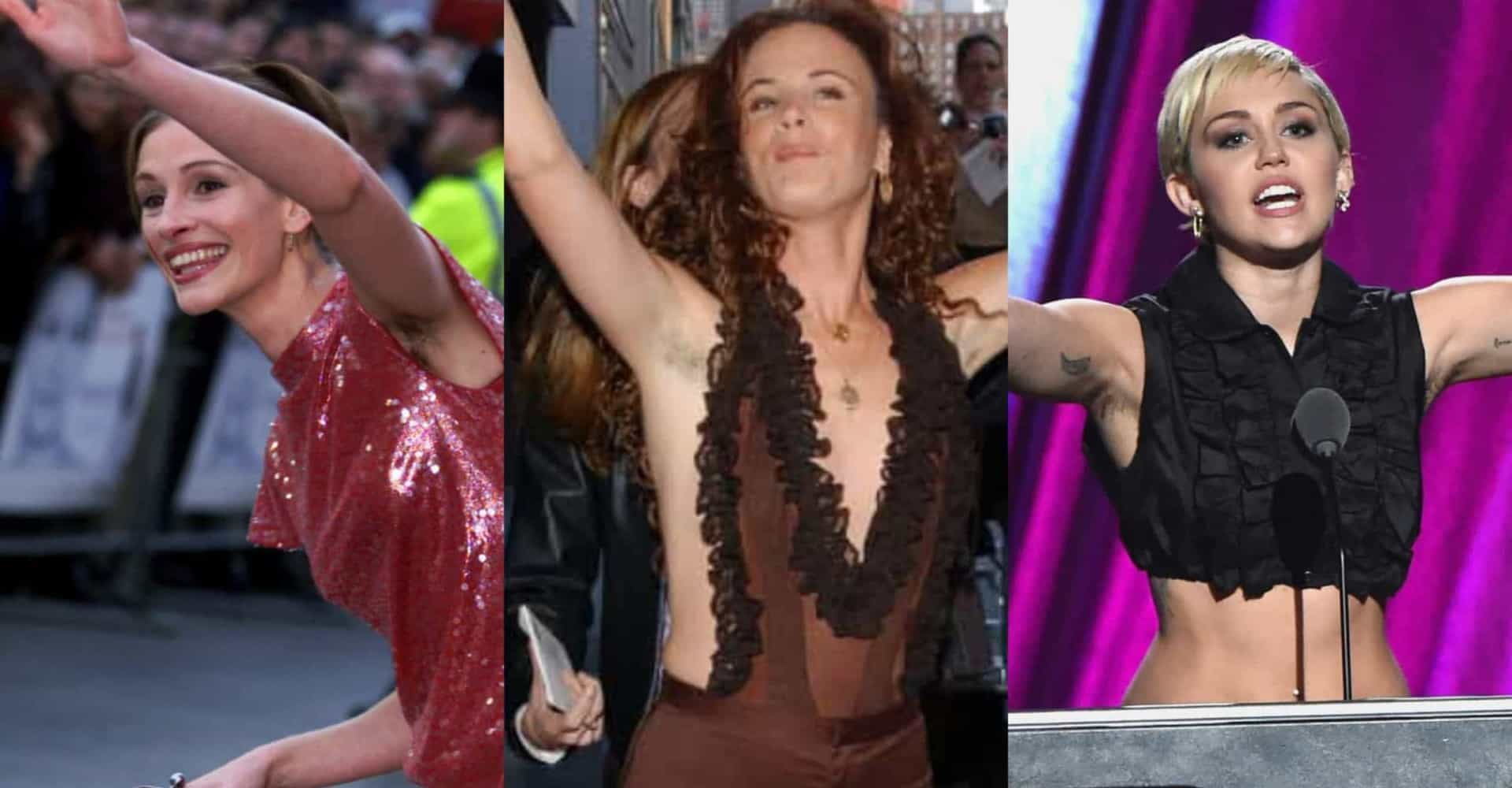 Celebs who aren't scared of armpit hair