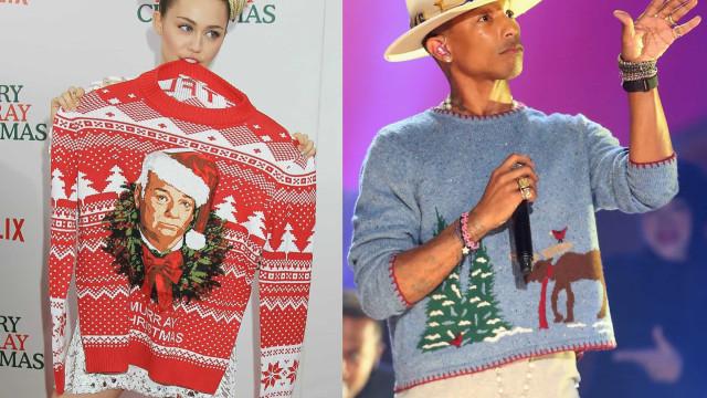 Die hässlichsten Weihnachtspullover der Stars