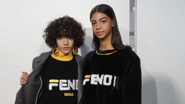 Fendi copies Fila for Milan fashion show