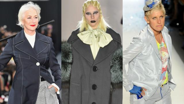 Model für einen Tag: Prominente auf dem Laufsteg