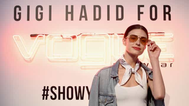 Gigi Hadid launched her second collection with Vogue Eyewear