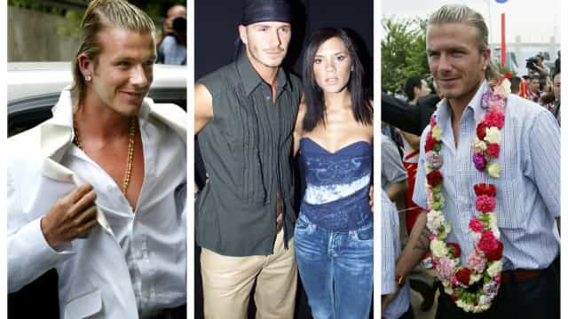 David Beckham e i suoi discutibili look