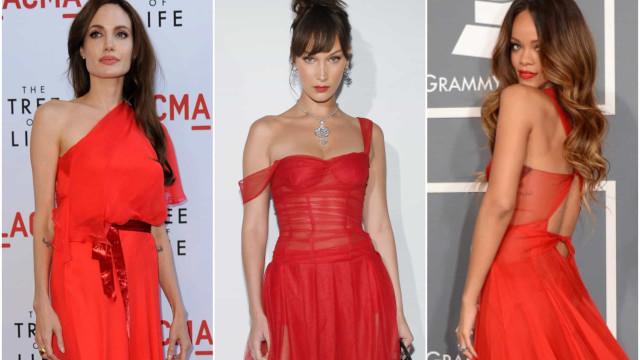 O vermelho fatal das celebridades
