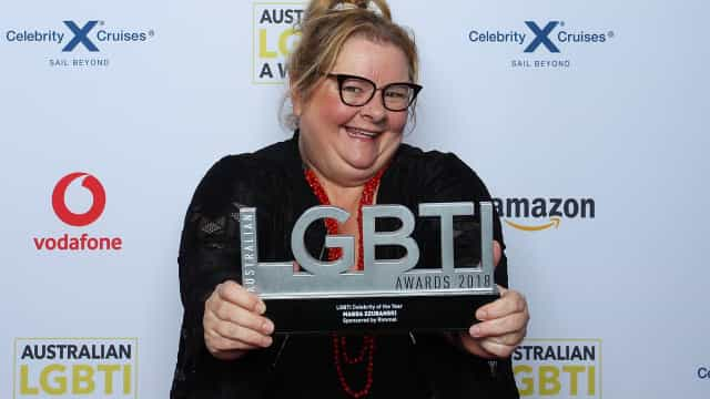 Magda Szubanski officiates the first 'Neighbours' same-sex wedding