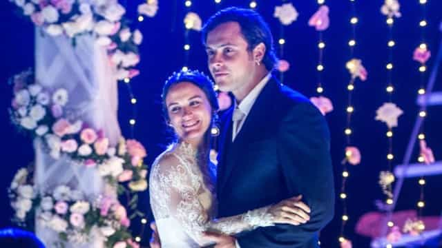 Bianca Bin e Sérgio Guizé se casaram no Coração da Amazônia