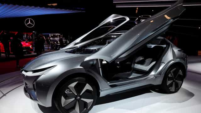 Futuristic cars drive into the world's biggest auto show