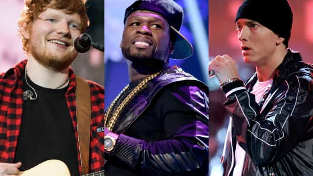 Ed Sheeran, 50 Cent, and Eminem have something exciting in common