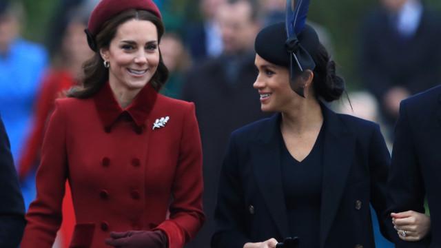 Rainha Elizabeth ajudou Kate Middleton e Meghan Markle fazerem as pazes
