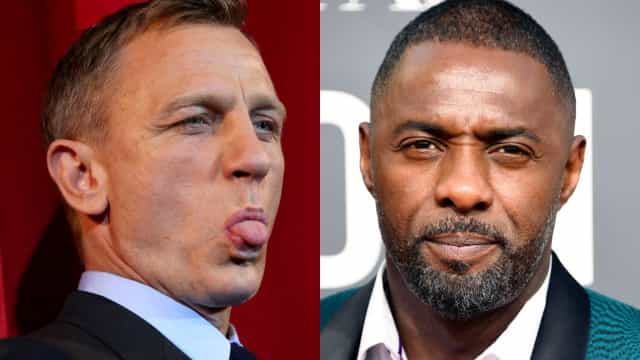 Idris Elba and Daniel Craig share a Bond-ing moment at the Golden Globes