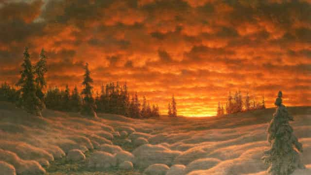 Wonderful paintings that describe winter