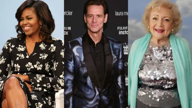 ¿Qué tienen en común Michelle Obama, Jim Carrey y Betty White?