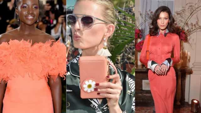 Living Coral: celebrities rocking the color of the year
