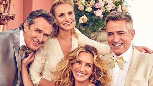 Atores do filme 'O Casamento Do Meu Melhor Amigo' voltam a se reunir