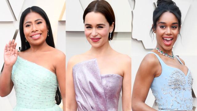Tons pastéis: a tendência do momento no Oscar 2019!