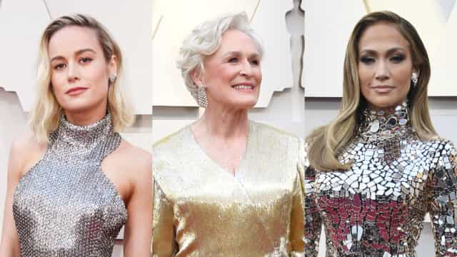 Celebs go marvelously metallic at the Academy Awards